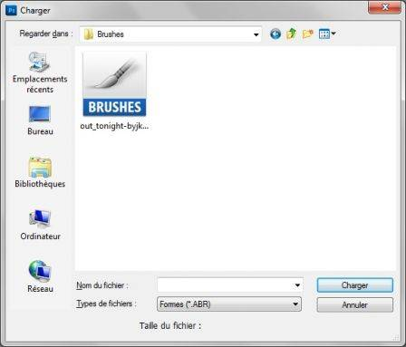 Installer des brushes Photoshop
