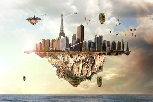 Ville aérienne flottante
