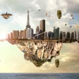 miniature Ville aérienne flottante