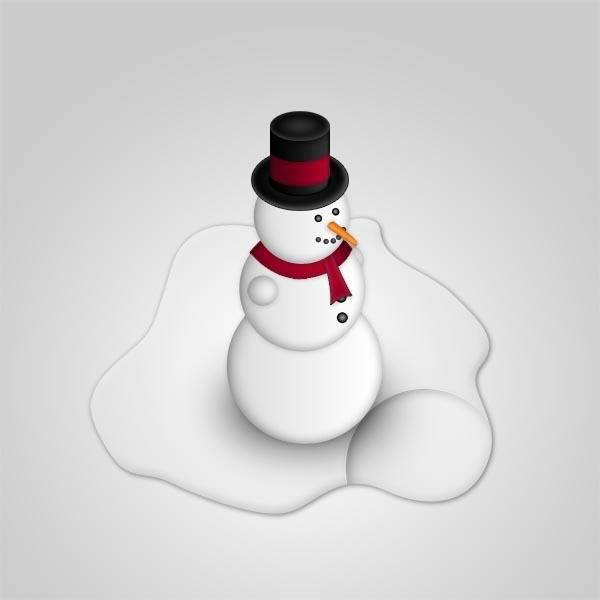 Un bonhomme de neige avec les options de fusion