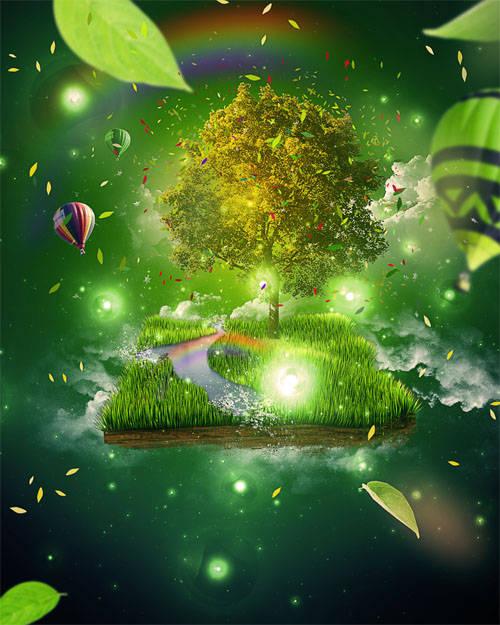 Créer de l'herbe avec Photoshop et Cinema 4D