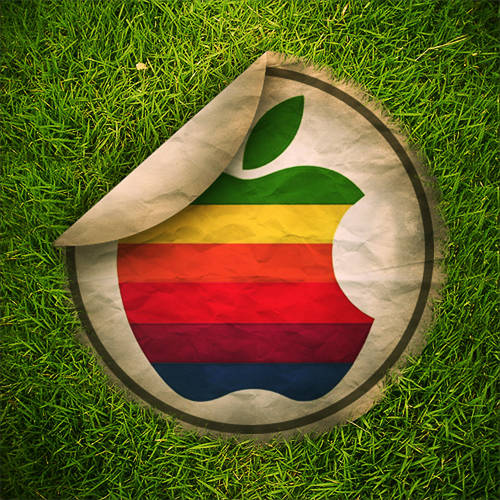 Sticker Apple retro