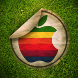 miniature Sticker Apple retro