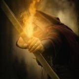 miniature Assassin avec un arc aux flèches de feu
