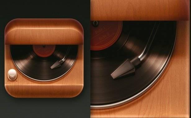 Dessiner une icône pour application iPhone : platine vinyle