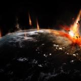 miniature Crash d'astéroïde sur une planète avec Phtooshop