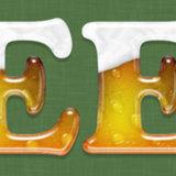 miniature Texte avec effet bière et mousse