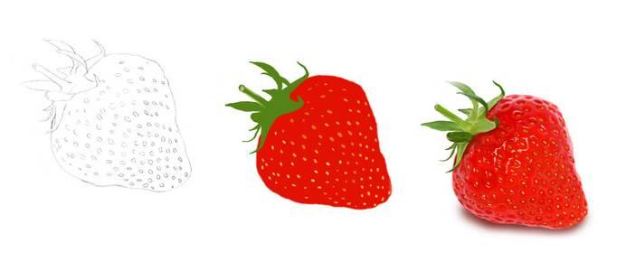 Dessiner une fraise