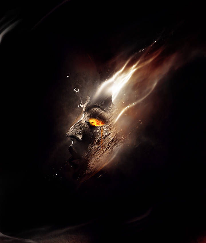 Dessiner un visage en feu