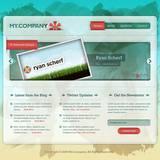 miniature Webdesign frais/pastel