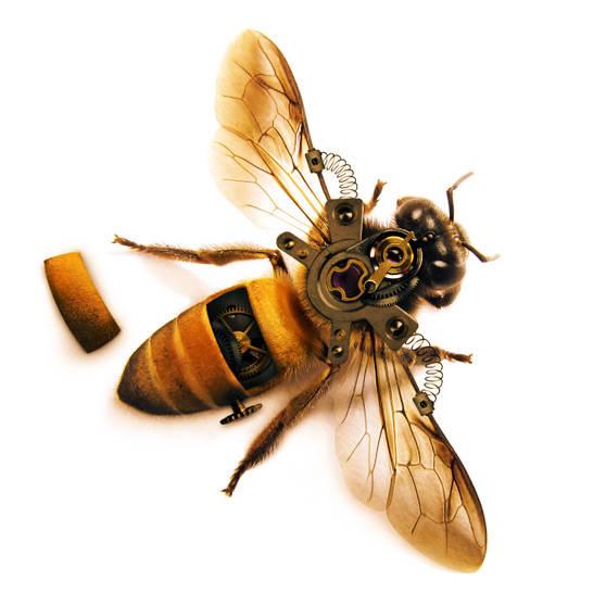 Dessiner une abeille steampunk