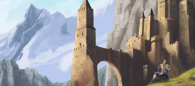 Dessiner un ch teau fort m di val photoshop tuto - Chateau fort facile a dessiner ...