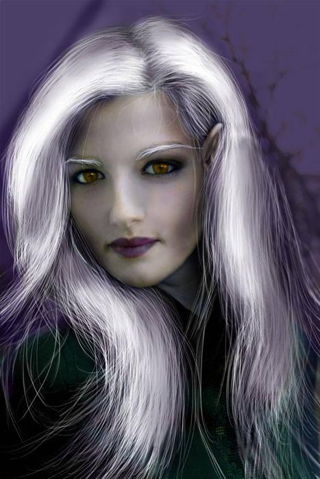 Transformer une femme en elfe noire