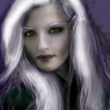 miniature Transformer une femme en elfe noire