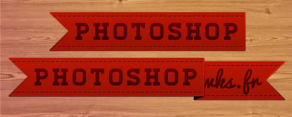 Dessiner un ruban avec Photoshop