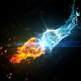 miniature Le choc des éléments, l'eau contre le feu