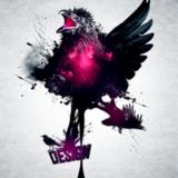 miniature Raven design, un dessin avec un corbeau rose...