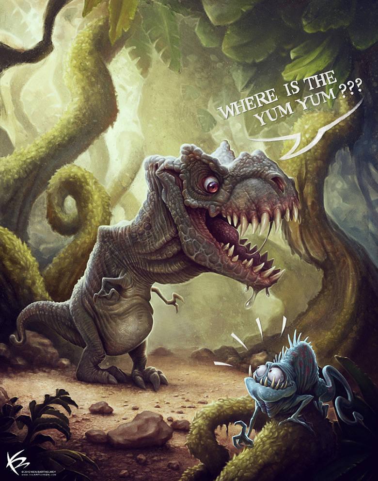 Dinosaure affamé