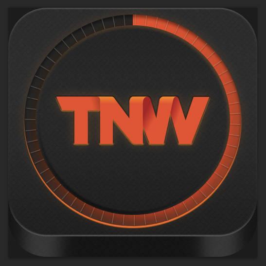 Créer une icône d'appli smartphone style Tron