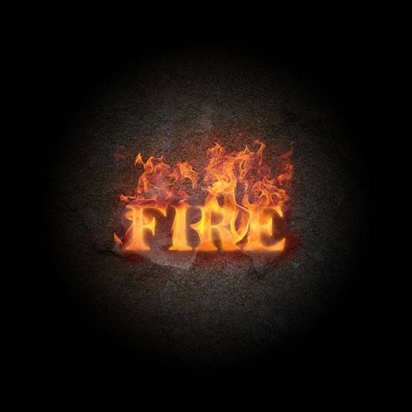 Créer un texte de feu