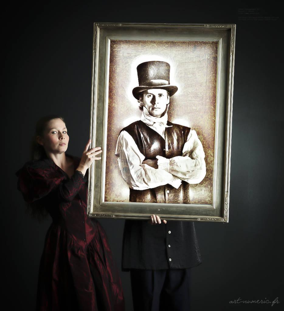 Tableau portrait incrusté