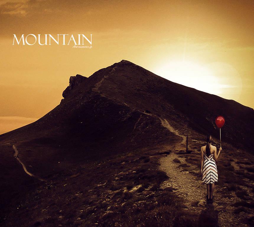 Perdue dans la montagne