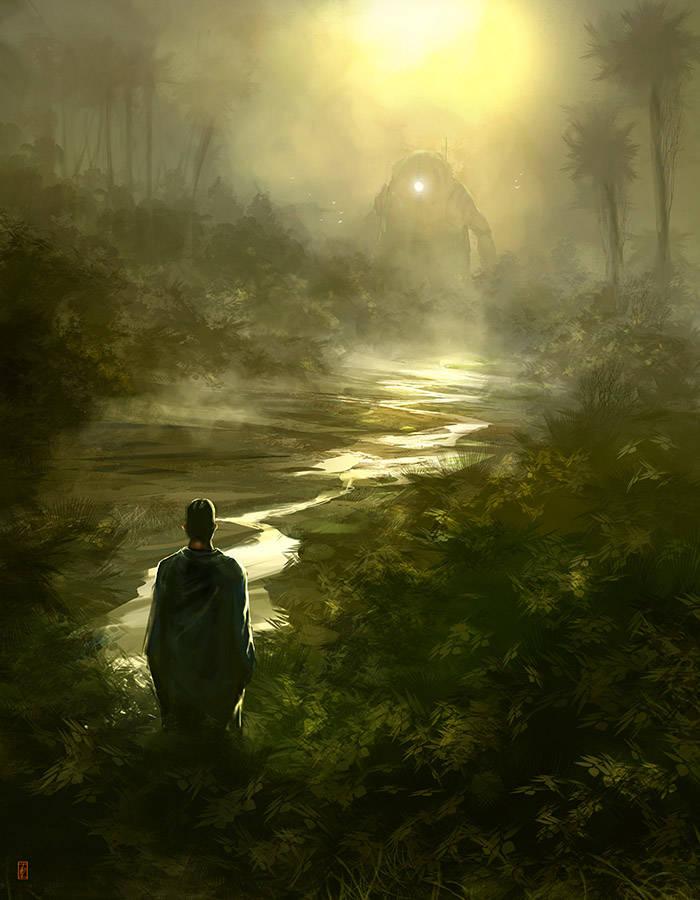 Rencontre avec un robot dans la jungle