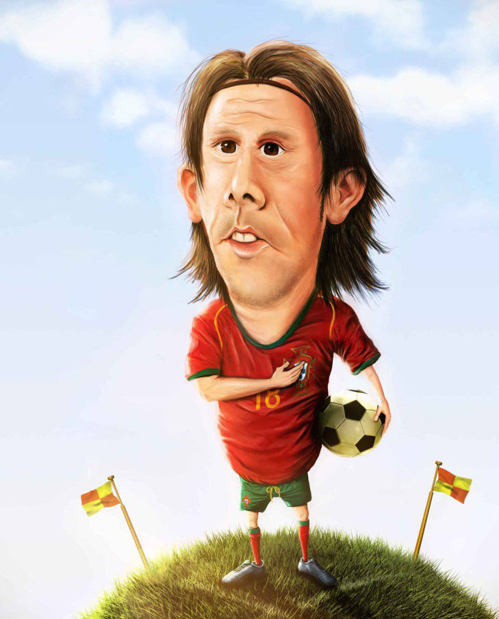 Caricature d'un joueur de foot