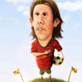 miniature Caricature d'un joueur de foot