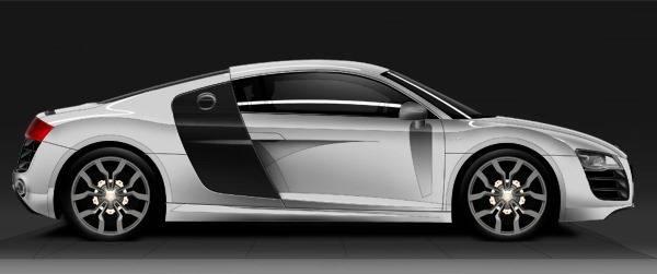 Dessiner une Audi R8
