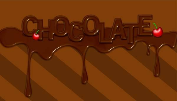 Texte en chocolat