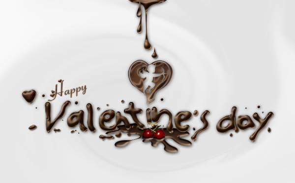 """Texte chocolaté """"Saint Valentin"""""""