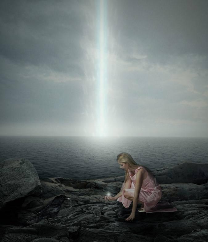 Faisceau de lumière céleste