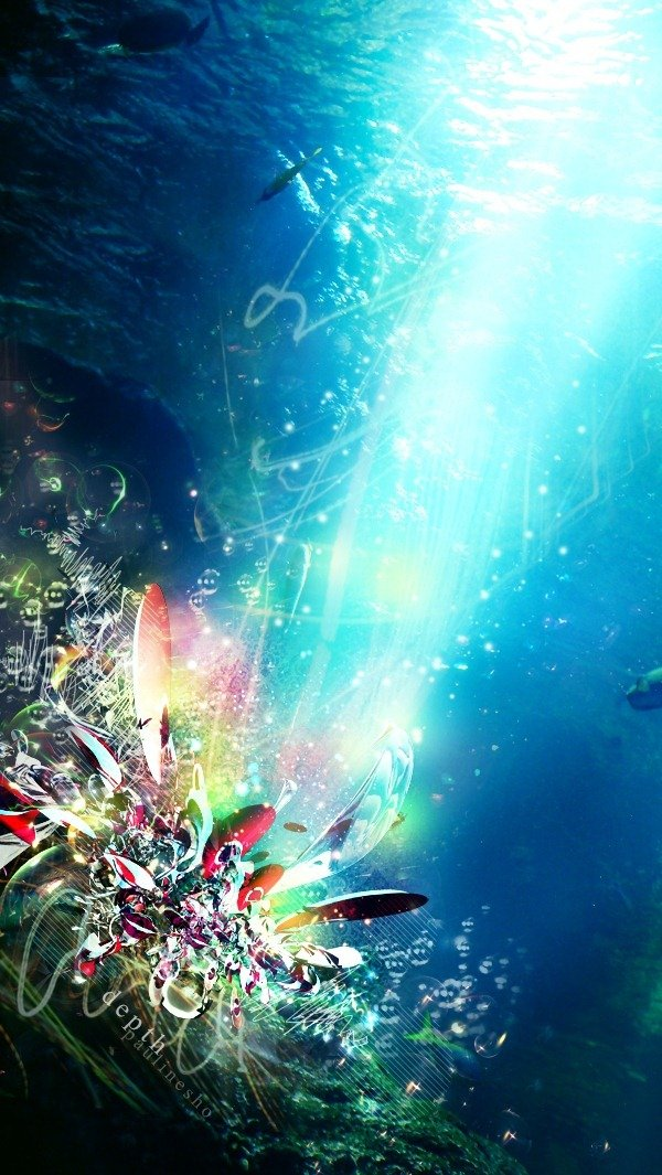 Dessiner une scène sous l'eau