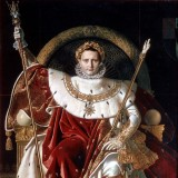 Napoléon sur le trône impérial